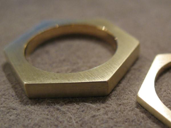 リング ナット 真鍮 K18